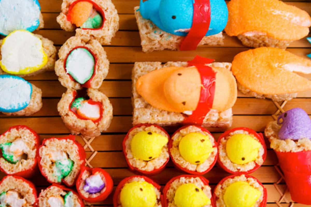 17-peep-sushi-colorful-easter-crafts