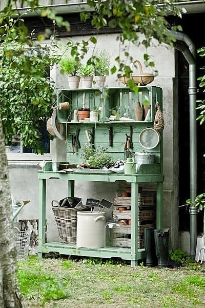 #21. MINT WOODEN PALLET PLANTING CENTER