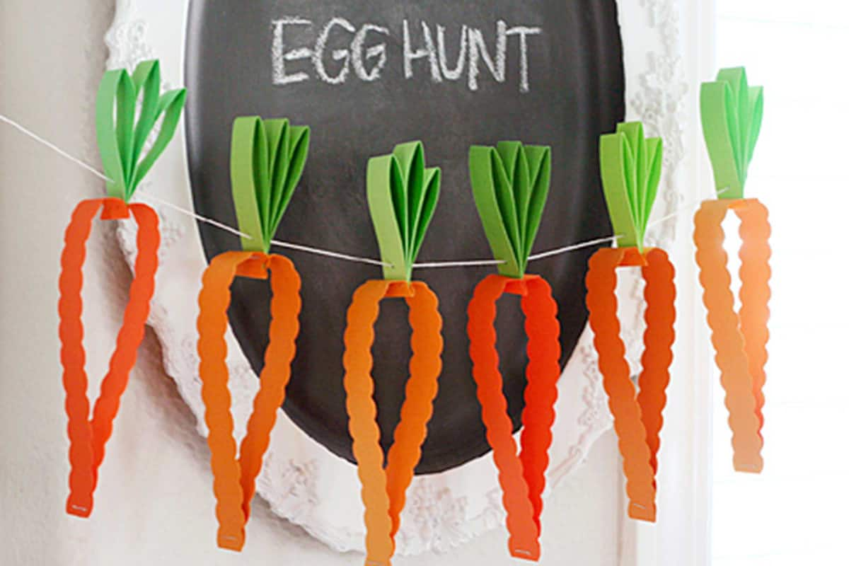 24-carrot-paper-garland-easter-crafts-for kids