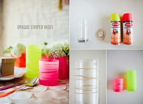 DIY STRIPPED DRINKING GLASS