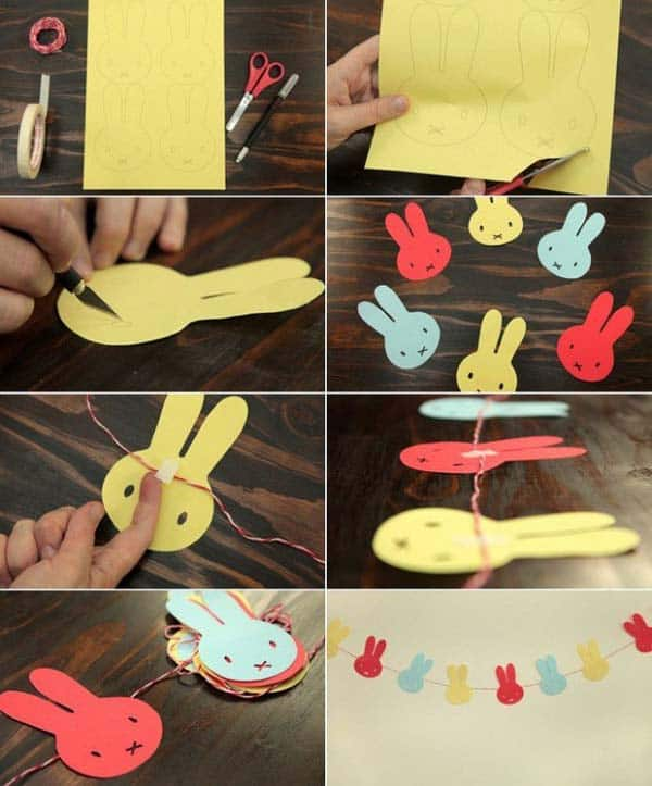Decorating Paper Crafts For Home Decoration Interior Room: 30 Superb Last Minute Easy Easter Crafts For Your Decor