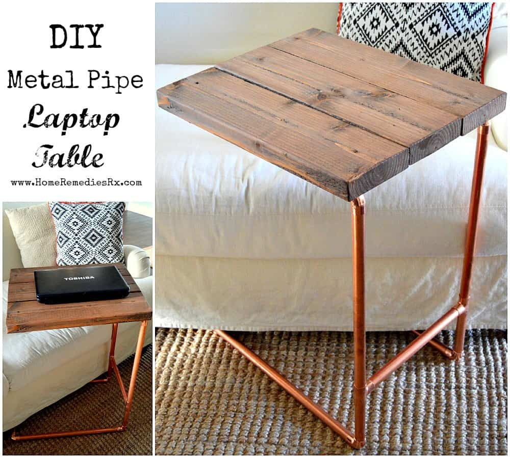 #36. DIY METAL PIPE LAPTOP TABLE