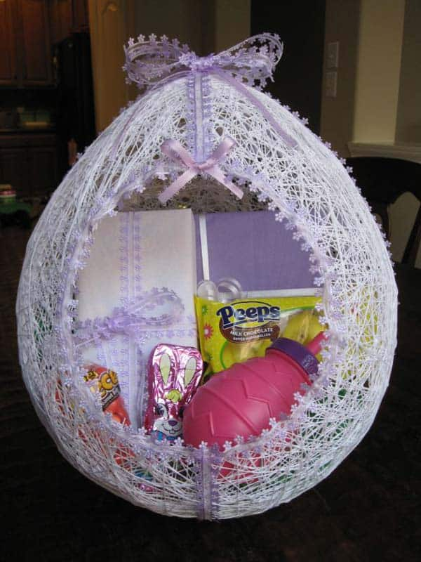 adorn sweets in a custom easter basket