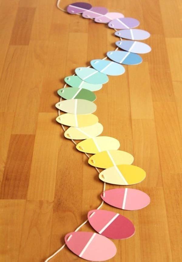 create a colorful garland for your decor