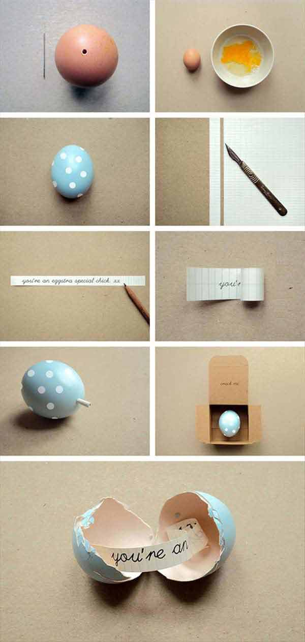 realize the most beautiful DIY easter gift