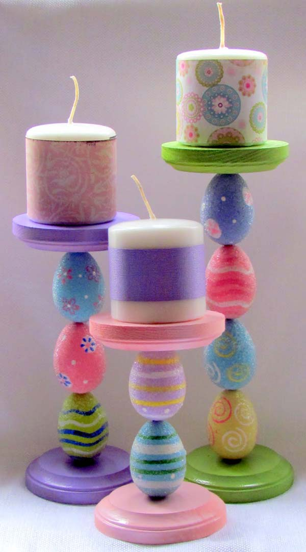 Craft joyful and colorful candle chandeliers