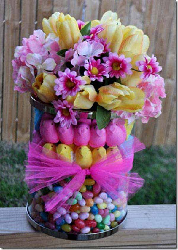 gift with love a beautiful refreshing package of flowers and sweets