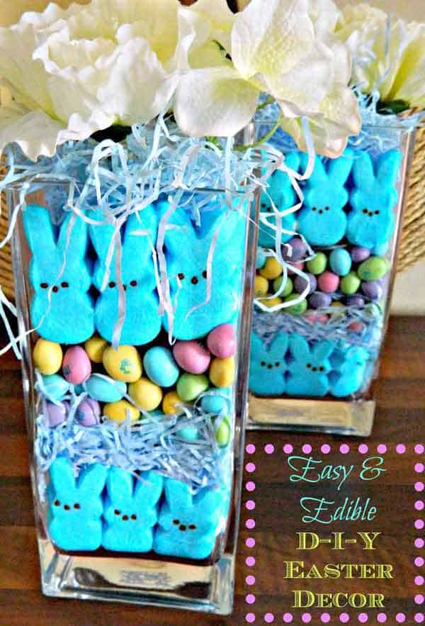 craft sweets and flowers combinations as decor pieces of diy easter gifts