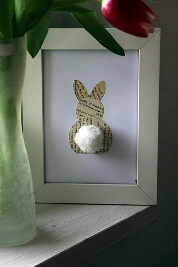 frame simple elements with easter motifs to emphasize your decor