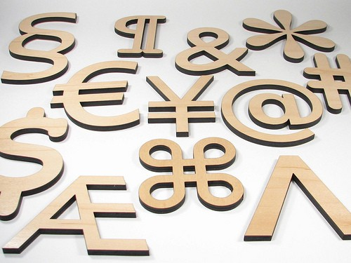 TYPOGRAPHIC CHARACTERS COASTER 2