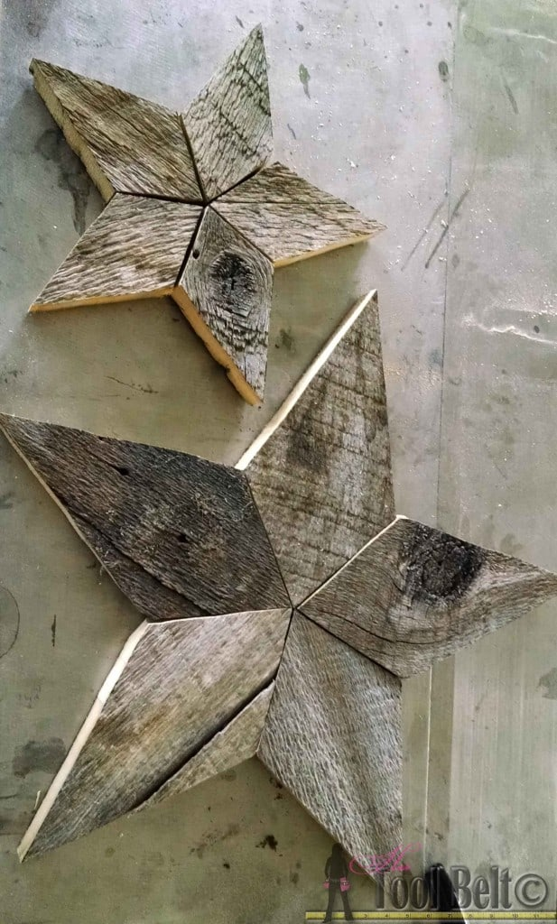 #48. PALLET WOOD STAR DECOR