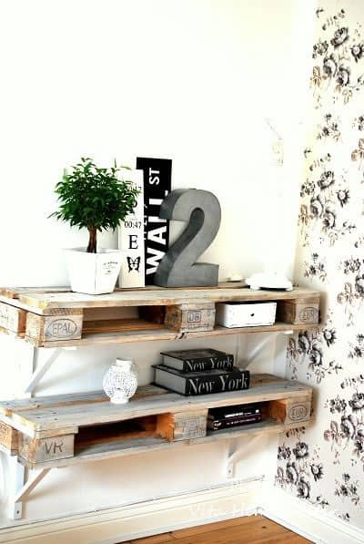 #54. WOODEN PALLET SHELVING