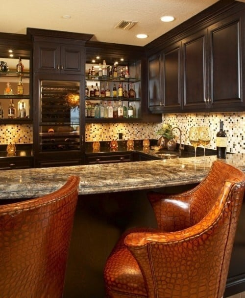 52 Splendid Home Bar Ideas To Match Your Entertaining Style - Home-bar-decorating-ideas