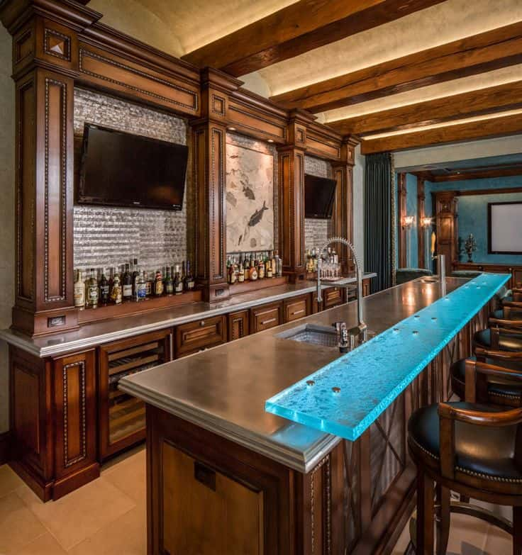 ... Home Bar Design With Intricate Textures. Jauregui Architects