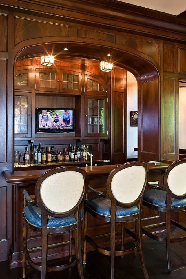 Stunning Home Bar Design Via Home Bunch