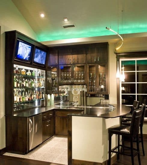 Basement Bars Design Pictures Remodel Decor and Ideas & 52 Splendid Home Bar Ideas to Match Your Entertaining Style ...