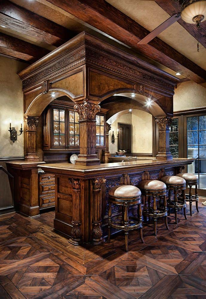 Delightful Stunning Home Bar