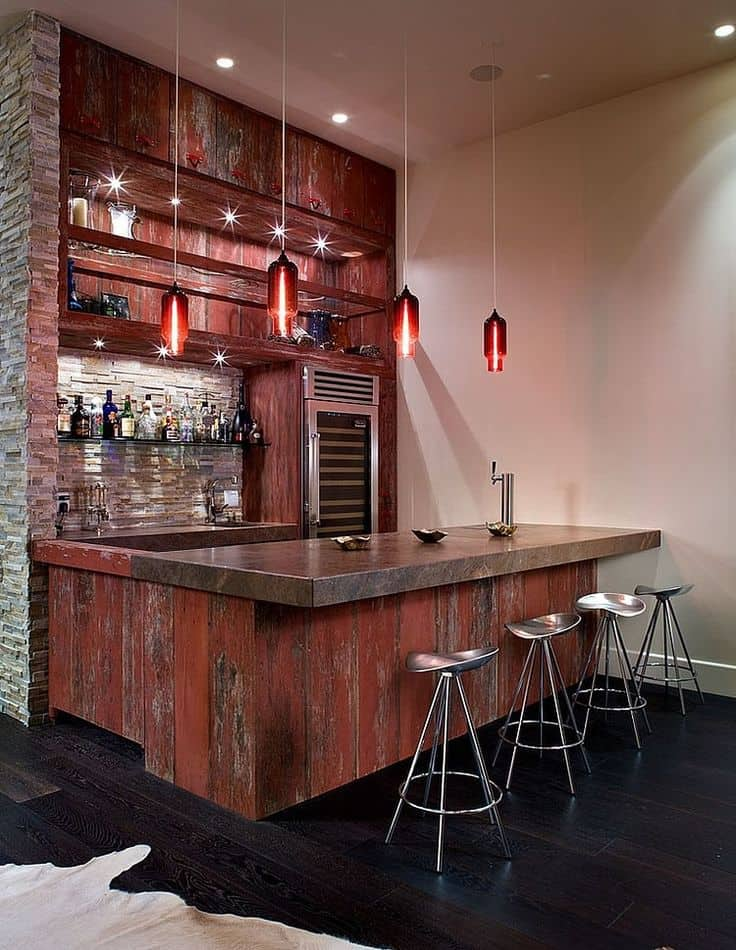 Home bar design Contemporary House by KuDa Photography