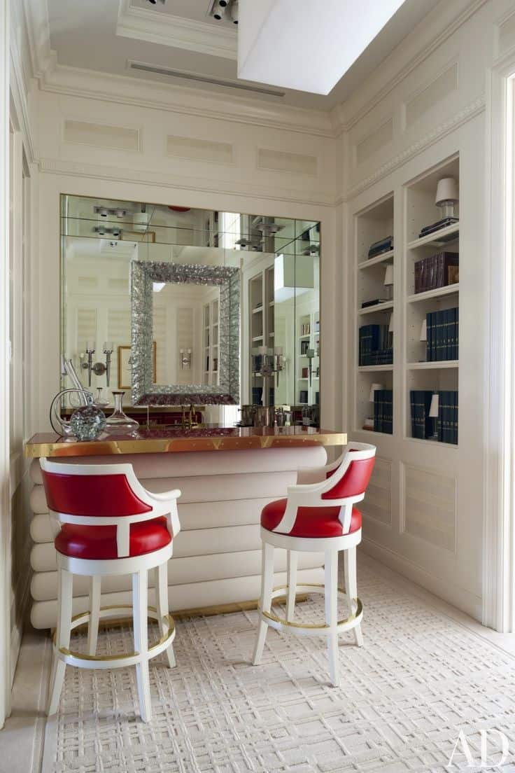 Step Inside 18 Stylish Es With At Home Bars Perfect For Easy Entertaining