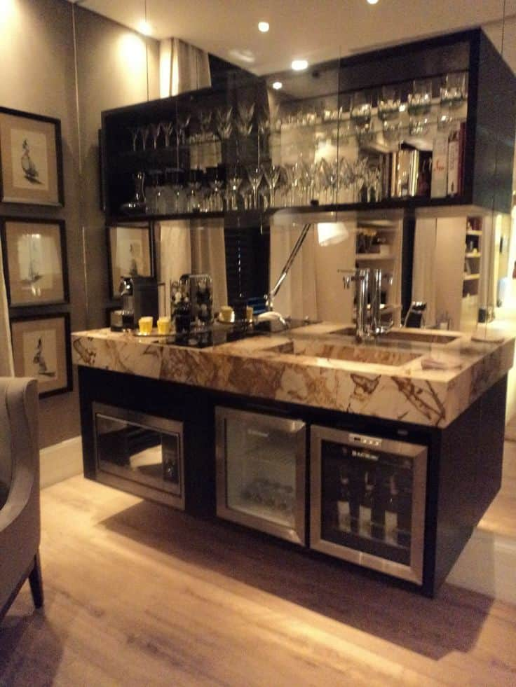 52 splendid home bar ideas to match your entertaining for Bar designs at home