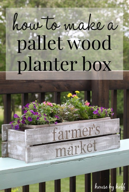 #60. PALLET WOOD PLANTER BOX
