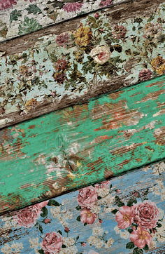 #6. WOODEN PALLET BOARDS AND PAPER DECOUPAGE