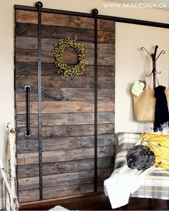 #62. PALLET WOOD SLIDING DOOR