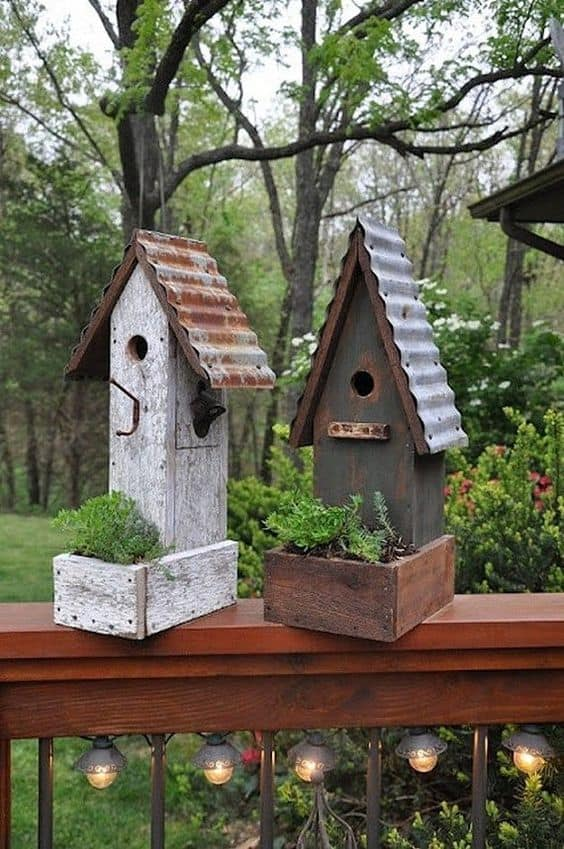 INDUSTRIAL LOOKING BIRD FEEDERS