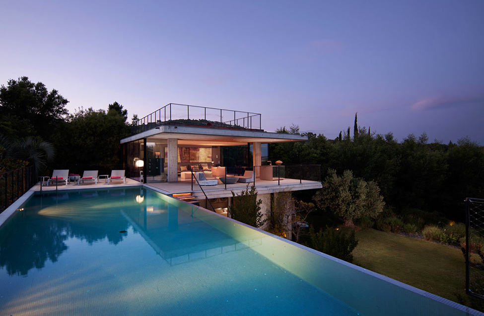 Bold Concrete and Glass Composition in a Private Saint Tropez Residence 1