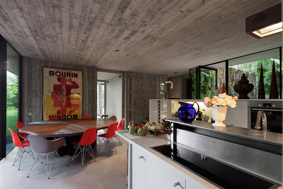 Bold Concrete and Glass Composition in a Private Saint-Tropez Residence (10)