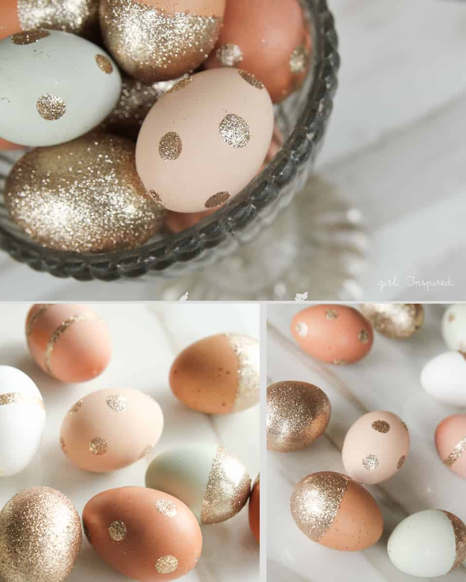 3. add a hint of sparkle and glamour to your Easter crafts
