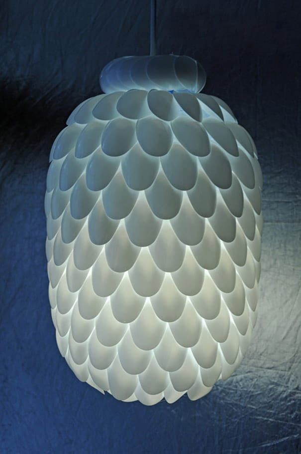 BEAUTIFUL PLASTIC SPOON LAMP