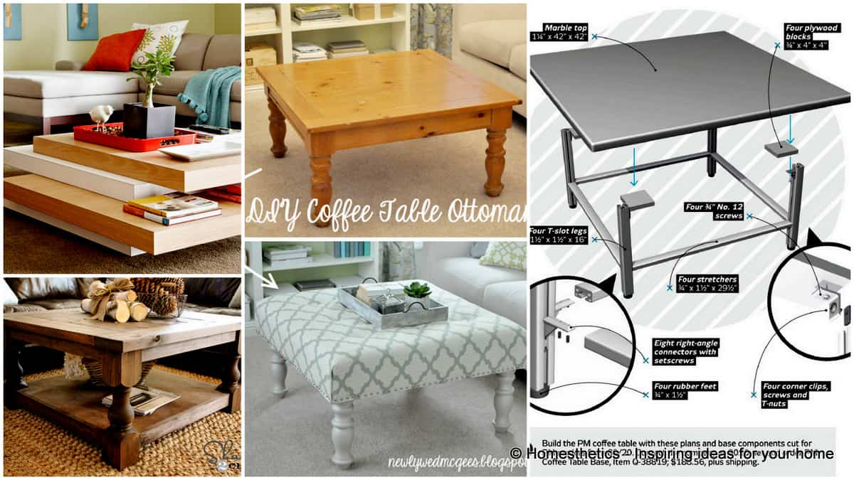 101 simple free diy coffee table plans geotapseo Image collections
