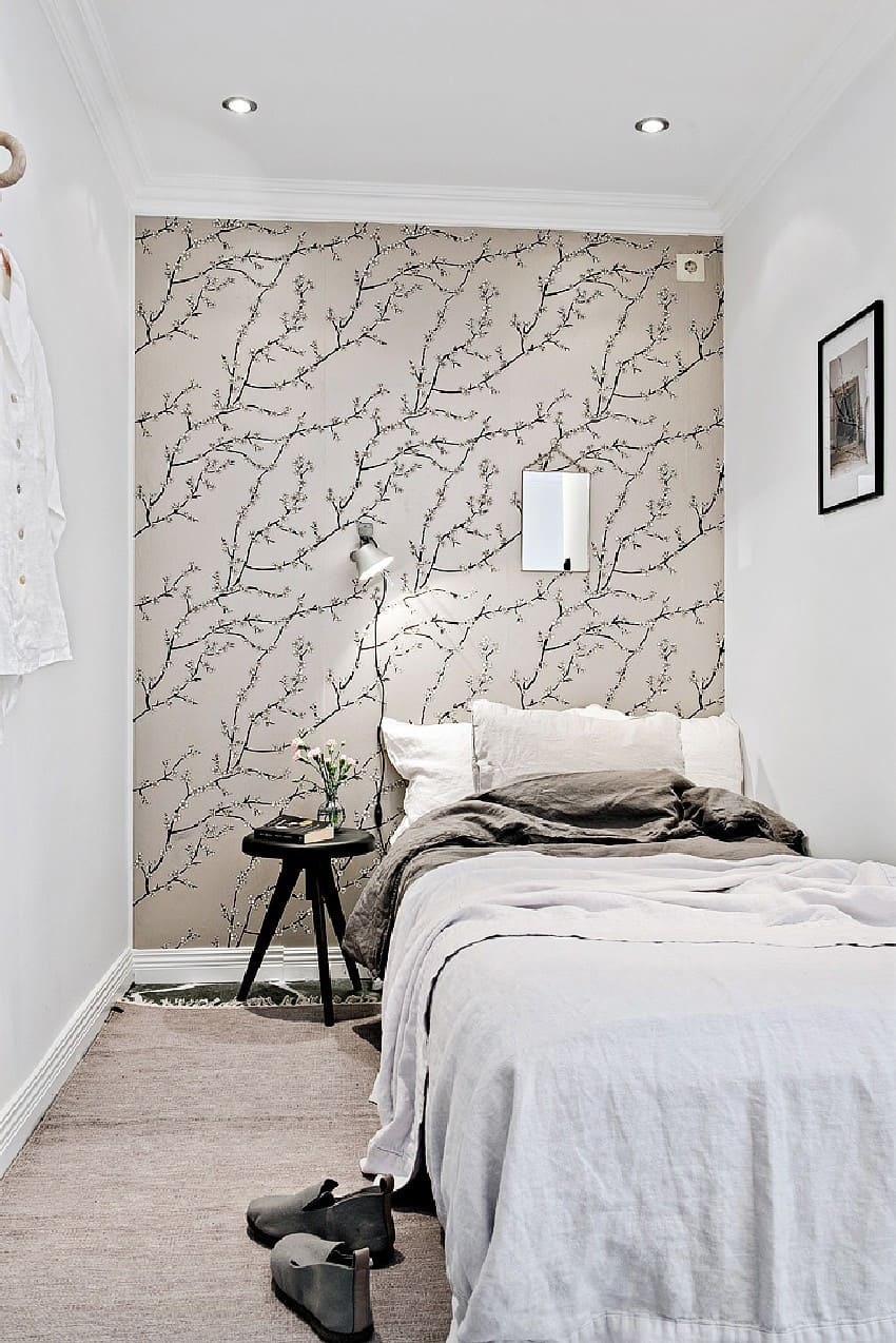 Awesome Wallpaper Ideas For Small Bedrooms Part - 13: How To Decorate And Organize A One Room Apartment Homesthetics (2)