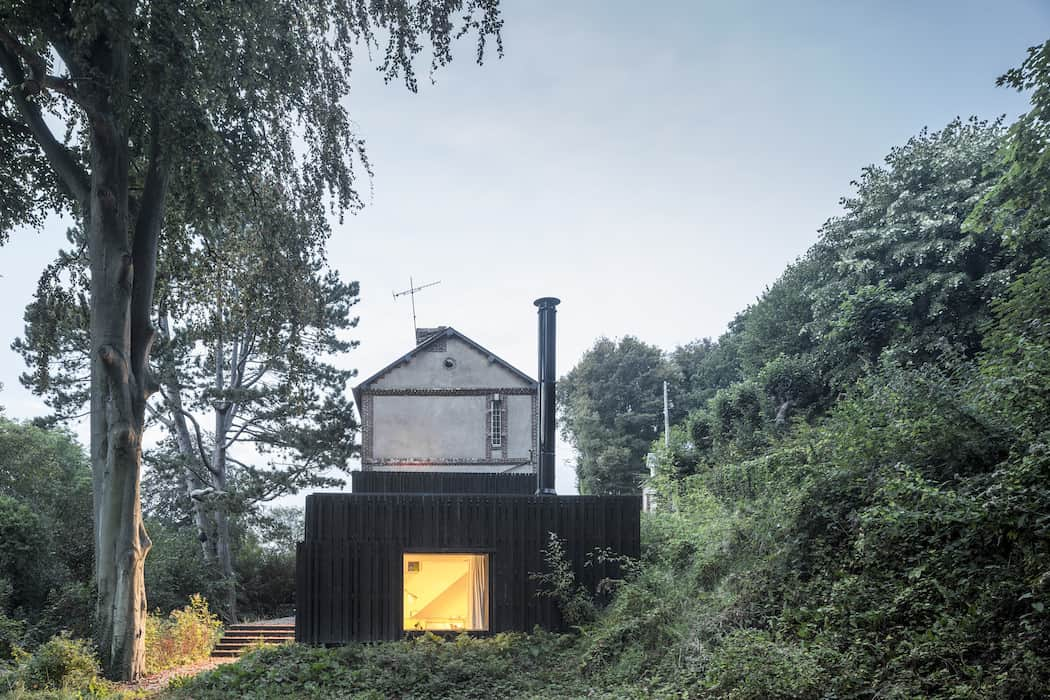 Marchi BlackHouse Enchanting Timber Home Nestled in The Forests of Normandy01 1050x742 14