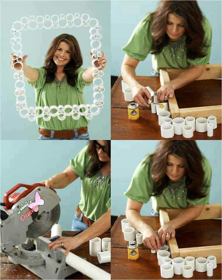 PVC PIPE PHOTO FRAME