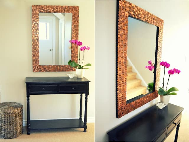 PENNY STUDDED MIRROR