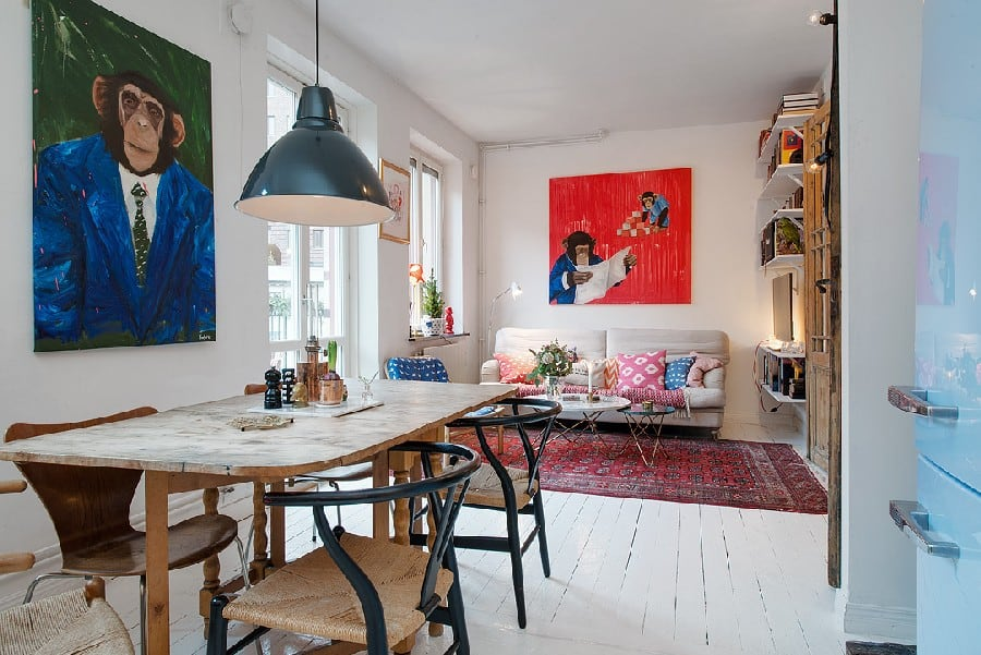Small Apartment in Sweden Boasting Style And Character homesthetics (1)
