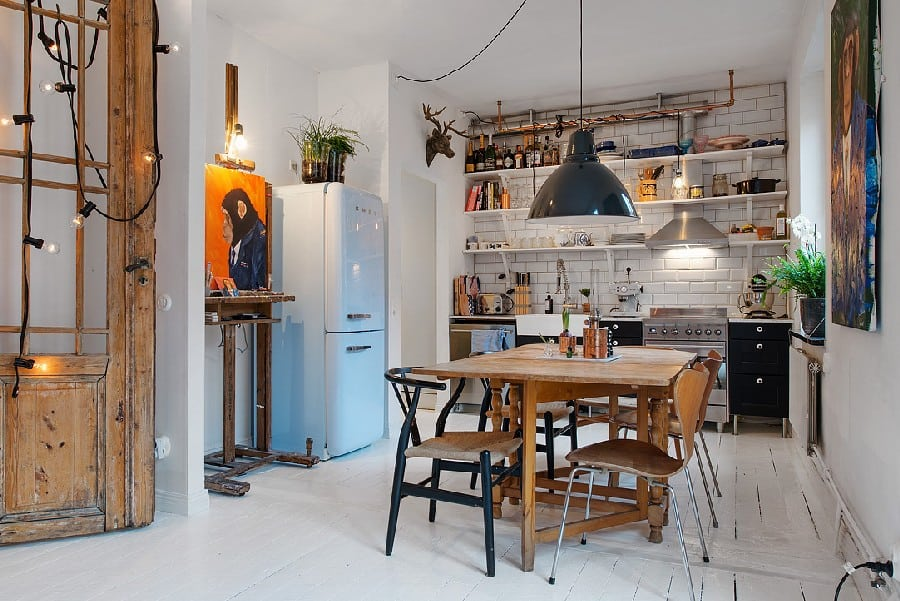Small Apartment in Sweden Boasting Style And Character homesthetics (13)