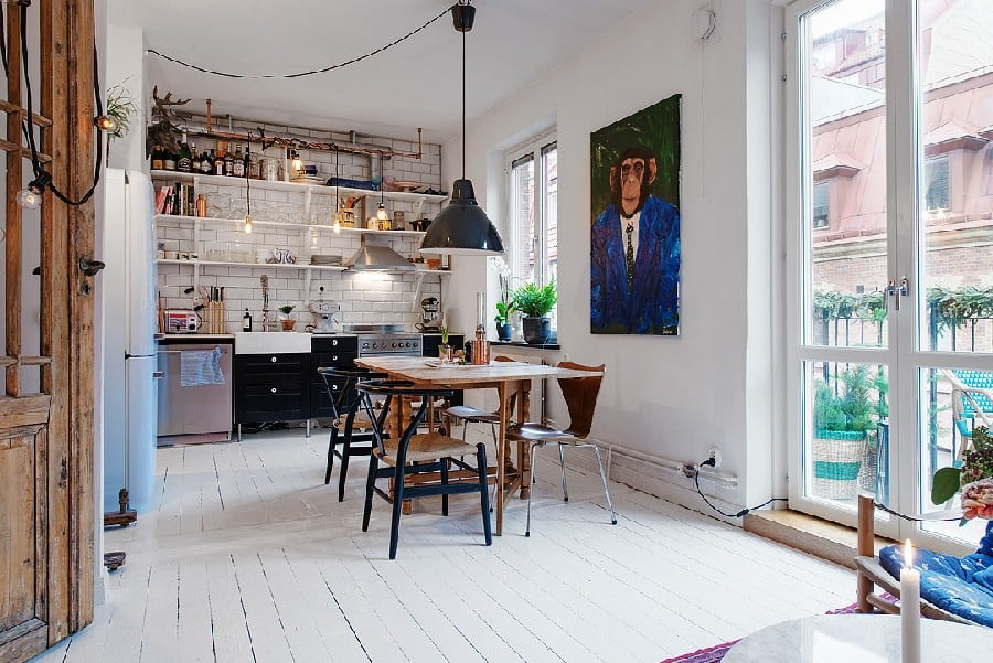 Small Apartment in Sweden Boasting Style And Character homesthetics (3)