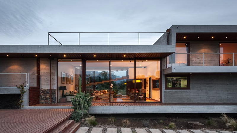 Stunning Concrete Home In Chile by Chauriye Stäger Architects (6)