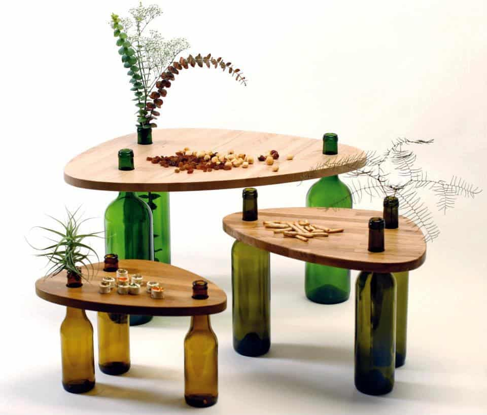 DIY WINE BOTTLE TABLE