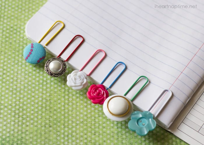 VERY SIMPLE BUTTON BOOKMARKS
