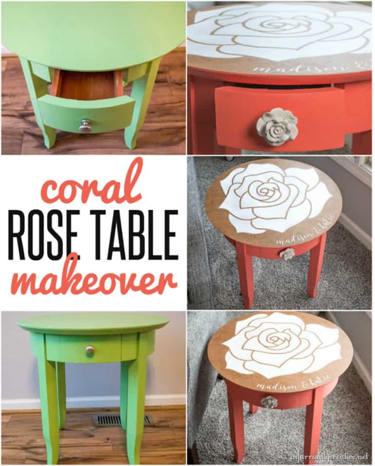 PERSONALIZED ROSE TABLE