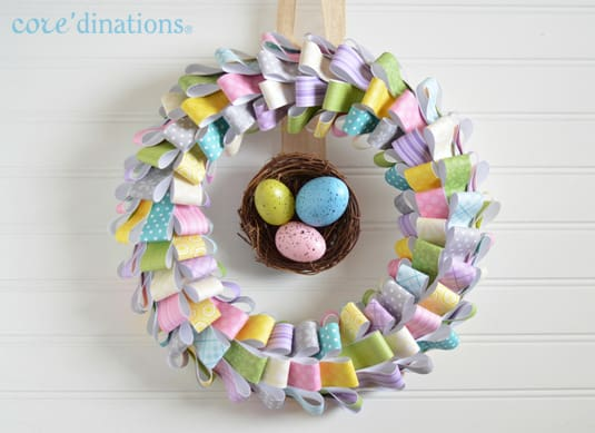 COLORFUL PAPER EASTER WREATH