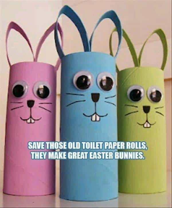 Toilet paper roll crafts ready for Easter
