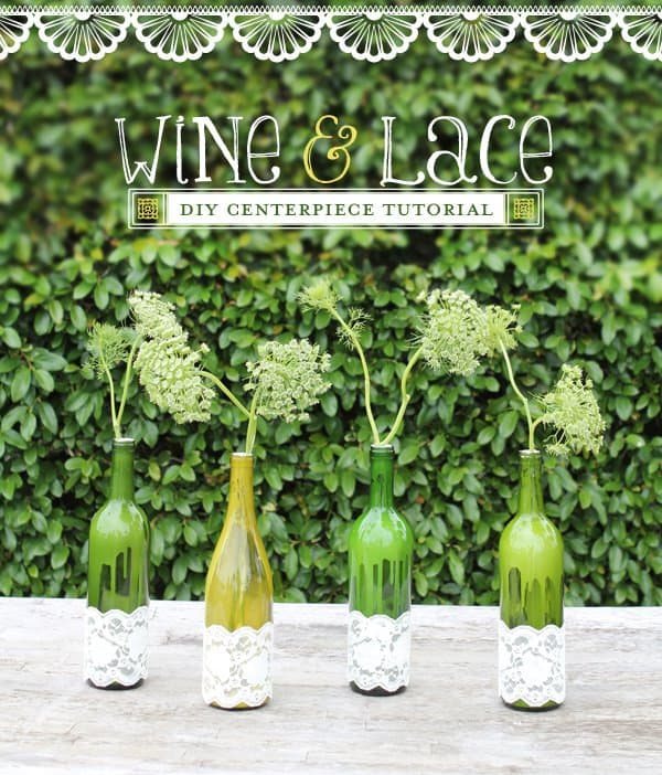 WINE AND LACE CENTERPIECE