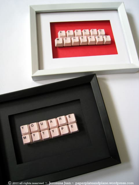 diy projects- DIY CRAFT FROM A BROKEN KEYBOARD