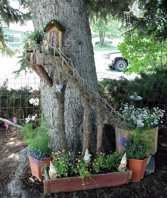 Printable Tree House Plans: 16 Do-It-Yourself Fairy Garden Ideas For Kids