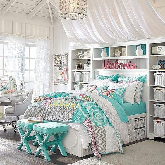 18 teenage bedroom ideas suitable for every girl - Teenage girl bedroom decorations ...